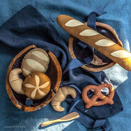 Felt Artisan Breads by Lia Griffith