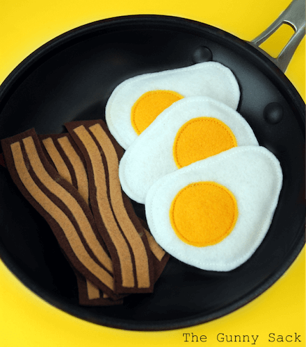 Felt Bacon And Eggs by The Gunny Sack