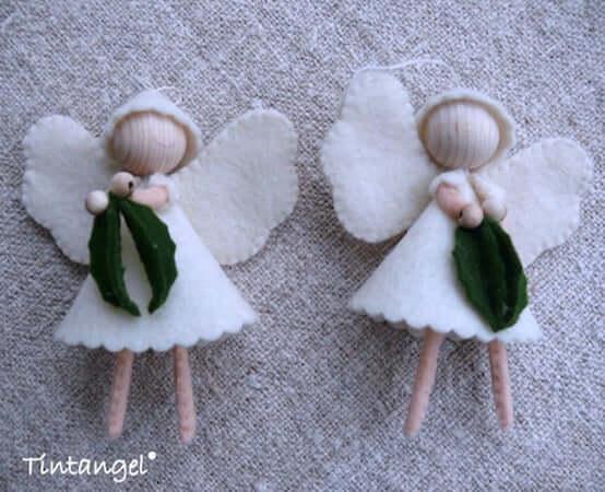 Felt Christmas Angels by Wool Felt Wonders