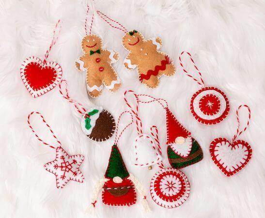 Felt Christmas Ornaments by Kippi At Home