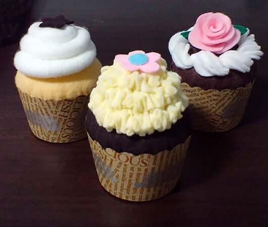 Felt Cupcakes by Felt Kreations