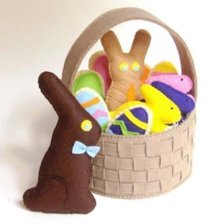 Felt Food Easter Basket by Gulf Coast Cottage PDF