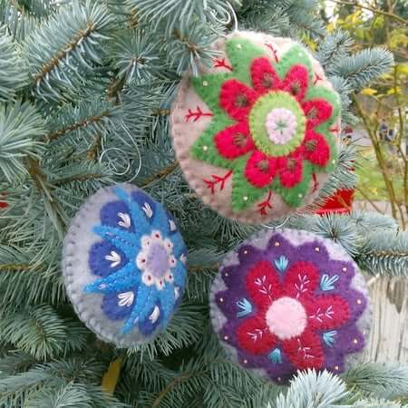 Felt Holiday Ornament by Museo Of The Morn