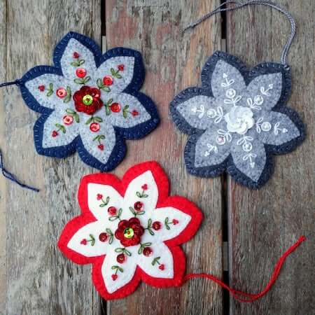 Felt Ornament Sewing Pattern by Patricia Welch Designs