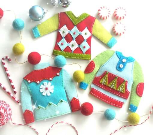 Felt Ugly Sweaters Ornament by Little Things To Share