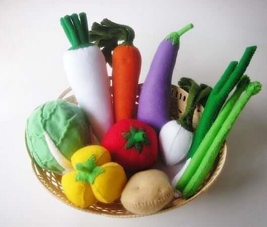 Felt Vegetables by July Hobby