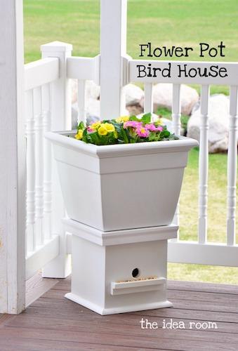 Flower Pot Birdhouse by The Idea Room