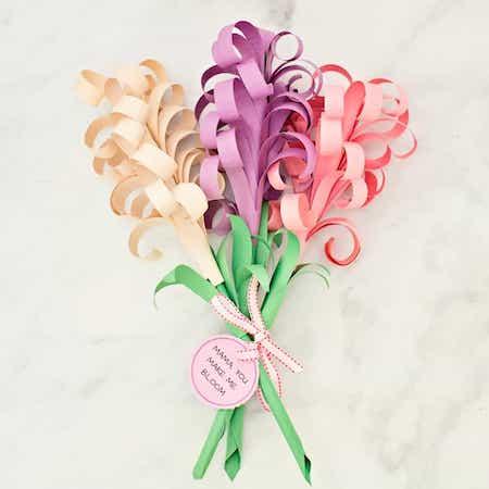 Giant Hyacinth DIY Paper Flower Bouquet by Hello Wonderful