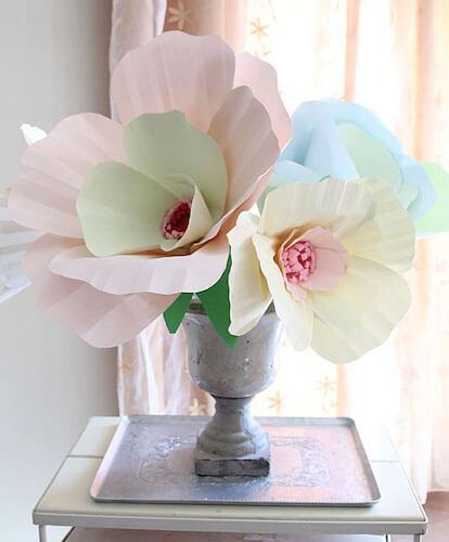 Giant Paper Flower Bouquet Centerpiece by Creative Jewish Mom