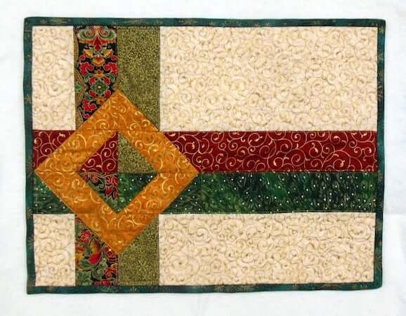 Gift Wrapped Quilted Placemat Pattern by JB Quilt Designs