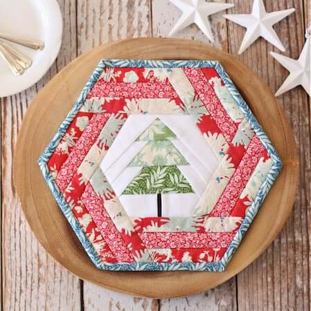 Hexie Holiday Placemat Quilt Pattern by A Spoonful Of Sugar