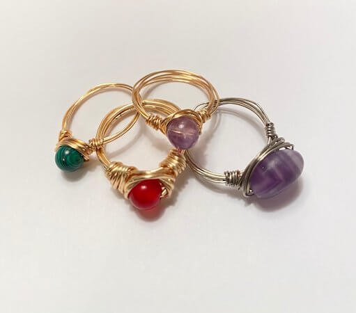 How to Make Easy Wire Wrapped Rings by The Trevor Dragon
