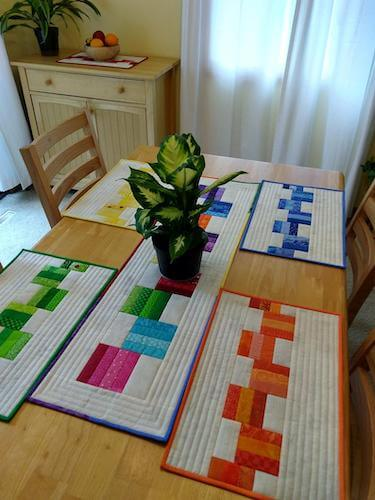 Leftovers Placemats Quilt Pattern by Canuck Quilter Designs