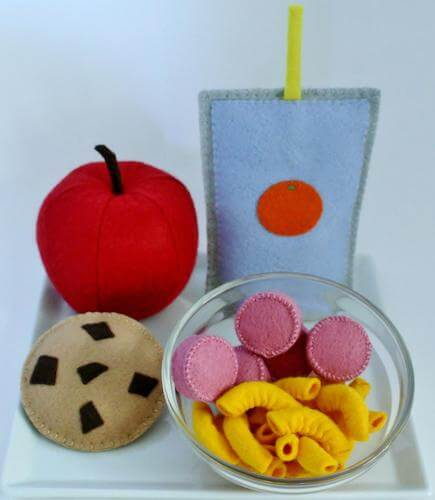 Macaroni And Cheese Felt Play Food by Treehouse Patterns