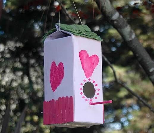 Milk Carton Birdhouse by Leap Frog