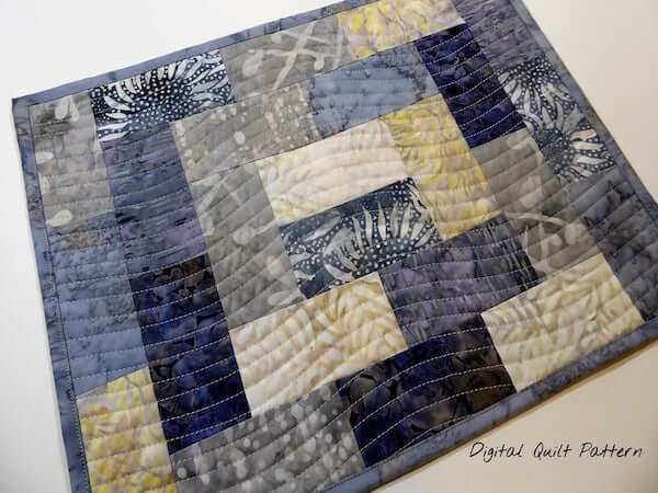 Modern Quilted Placemat Pattern by Dilly Dally Everyday