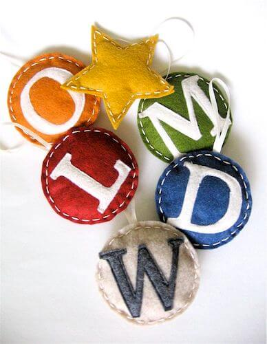 Monogrammed Family Ornaments by Made Everyday