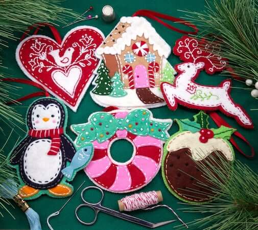 Nordic Felt Christmas Ornaments by Erica Hite