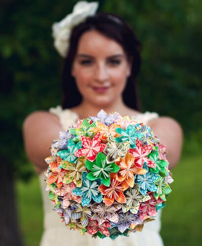 Origami Paper Flower Bouquet DIY by Capitol Romance