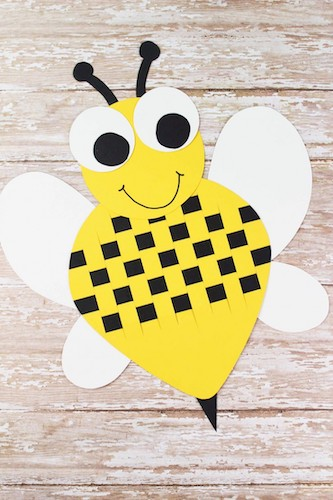 Paper Weave Bumble Bee by Frugal Mom Eh