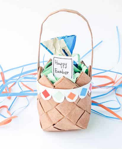 Paper Weaving Basket by Must Have Mom