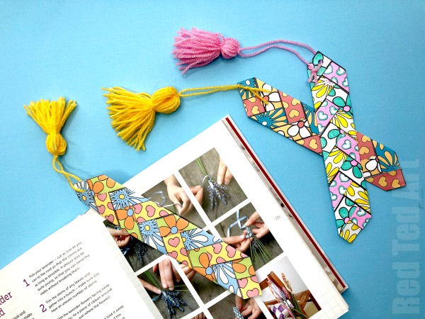 Paper Weaving Bookmark by Red Ted Art