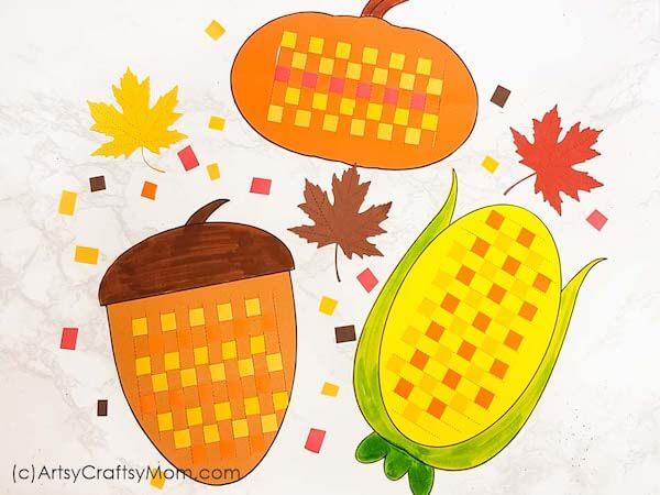 Paper Weaving Fall Pattern by Artsy Craftsy Mom