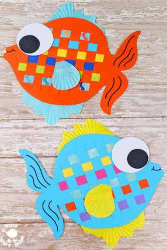 Paper Weaving Fish Craft by Kids Craft Room
