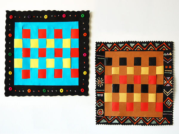 Paper Weaving Pattern by First Palette