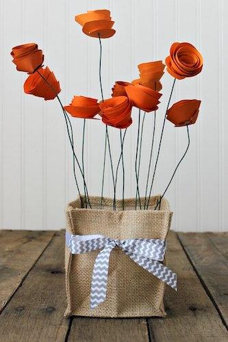 Pretty Paper Flower Centerpiece by Purely Katie