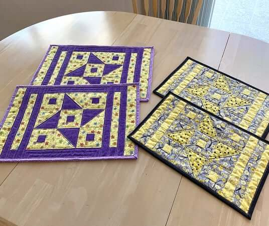 Quilted Placemat Pattern by Tulip Square