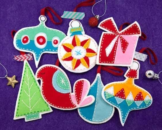 Retro Wool Felt Christmas Ornament by Erica Hite