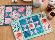 Star Of The Table Placemats Quilted Pattern by All People Quilt