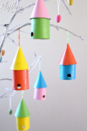 Toilet Paper Roll Birdhouses by Rhythms Of Play