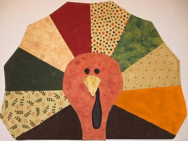 Turkey Quilted Placemat Pattern by Pure Joy Patterns