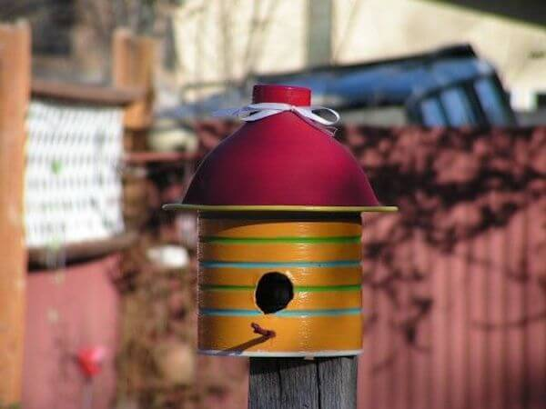 Whimsical Coffee Can Birdhouse by Hub Pages