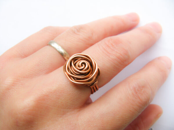 Wire Wrapped Rose Ring by Unblushing