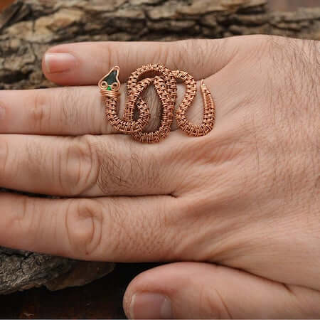 Wire Wrapped Serpent Ring byZagreo Jewelry Design