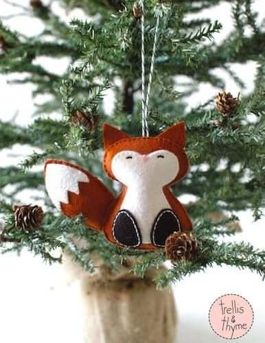 Woodland Fox Felt Ornament by Sosaecaetano