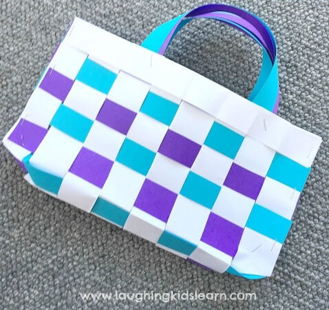 Woven Paper Bag by Laughing Kids Learn