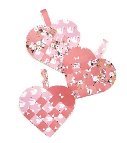 Woven Paper Heart by Gathering Beauty