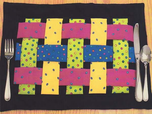Woven Quilted Placemat Pattern by Whimsy Color