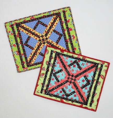 X Marks The Spot Placemat Quilt Pattern by Fabric 406