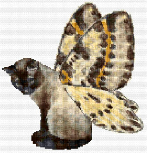 A Cat with the Winds Cross Stitch Pattern by Ann Logan