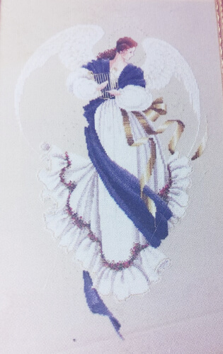 Angel of Hope Lavender and Lace Cross Stitch Pattern by Marilyn Leavitt-Imblum