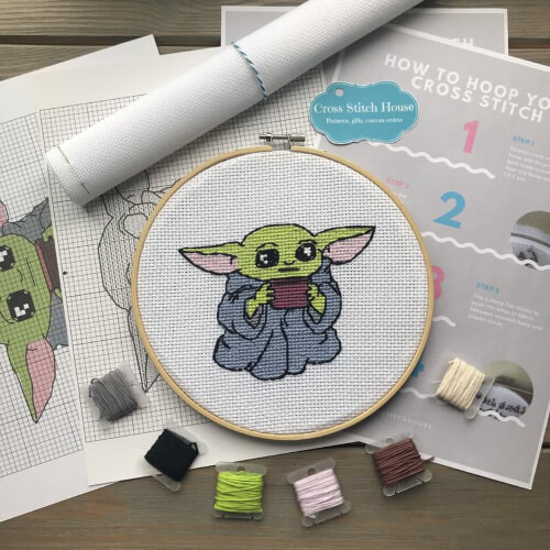 Baby Alien Star Wars Cross Stitch Kit by CrossStitchHouse