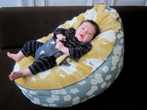 Baby and toddler bean bag Sewing Pattern from Straight Grain