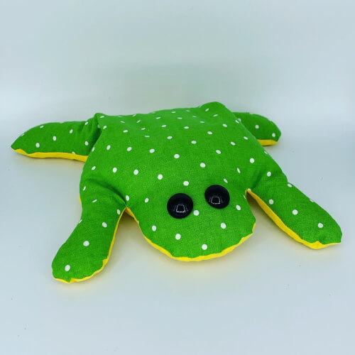Beanbag Frog Sewing Pattern by Player2patterns