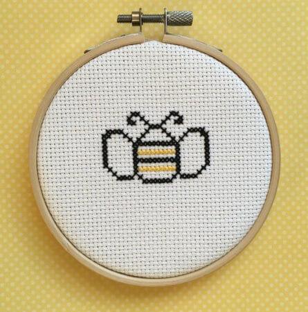 Bee Cross Stitch Pattern by 99CENTSTITCH