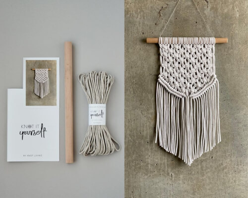 Belarus Wall Hanging Macrame Kit for Beginners from KNOTityourself